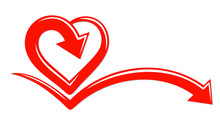 The Stylized Symbol With Red Heart.