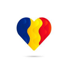 National Flag Of Romania In He...