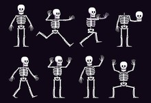 Halloween Cartoon Skeleton In ...