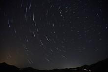 Star Trail Rastro De Estrellas Circumpolar Paraje Pantano Casasola Almogia Malaga