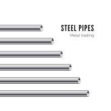 Metal Pipe. Steel Tubes Banner...