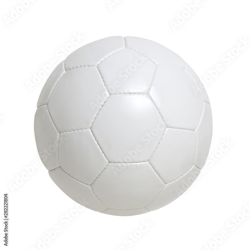 Carta da parati White soccer ball isolated