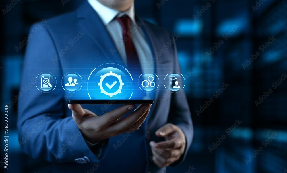 Fototapeta Standard Quality Control Certification Assurance Guarantee Internet Business Technology Concept
