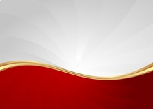 Red And White Abstract Wavy Ba...