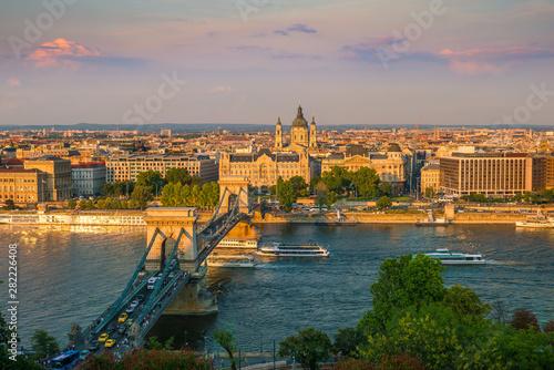 Fototapeta Budapest skyline in Hungary obraz na płótnie