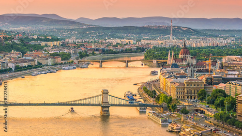 Budapest skyline in Hungary Canvas Print