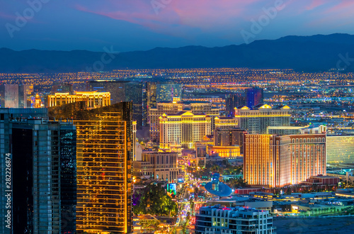 Keuken foto achterwand Las Vegas cityscape of Las Vegas from top view in Nevada, USA