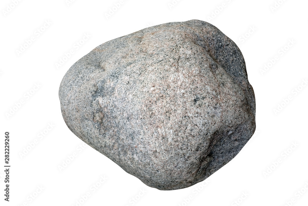 Fototapety, obrazy: natural stone isolated on white background