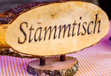German Stammtisch Sign