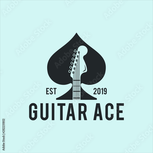 Fotografía  guitar ace vector graphic template download quality