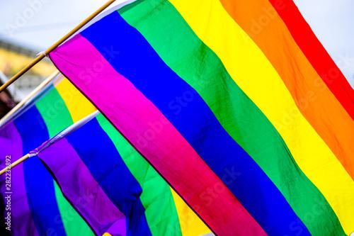 Fototapeta rainbow flags obraz na płótnie
