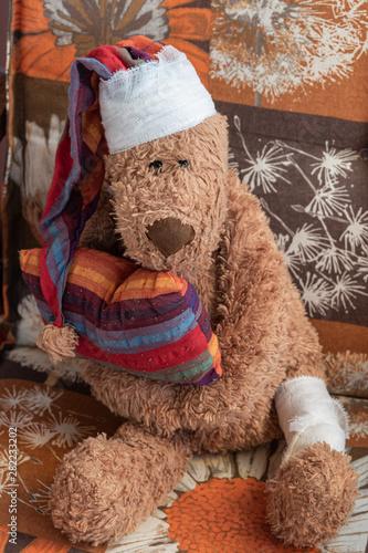 Photo Teddybär verletzt