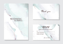 Holographic Mint Grey Wedding Marble Card Desing. Liguid Splash Abstract Art.  Marble Tender Design Background For Wedding, Invitation, Web, Banner, Card, Pattern, Wallpaper Vector Illustration.