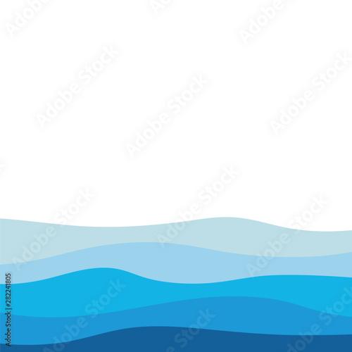 Foto auf Leinwand Abstrakte Welle Abstract Water wave design background