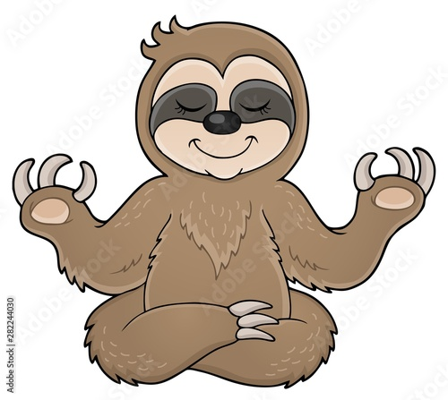 Photo sur Toile Enfants Happy sloth theme image 1
