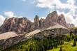 Grödnerjoch, Sellagruppe, Sellamassiv, Grödnertal, Val Gardena, Dolomiten, Südtirol, Sommer, Italien