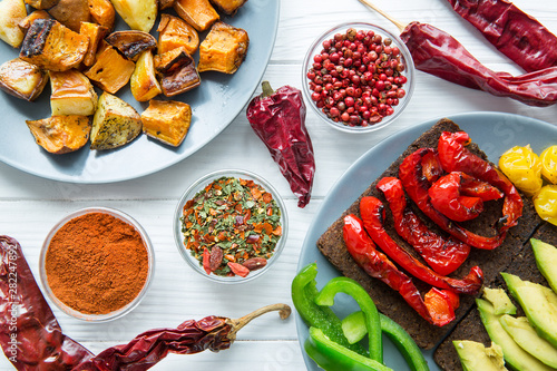 Mexican food, assortment of...