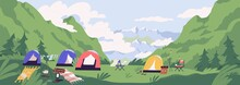 Touristic Camp Or Campground W...