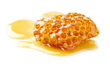 Natural Wild Honey On White Background