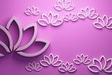 Lotus flower background. 3D Render Illustration