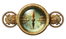 Steampunk Fantasy Compass Illustration