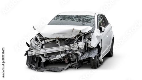 Fotografía carcass of crashed car, Car insurance concept