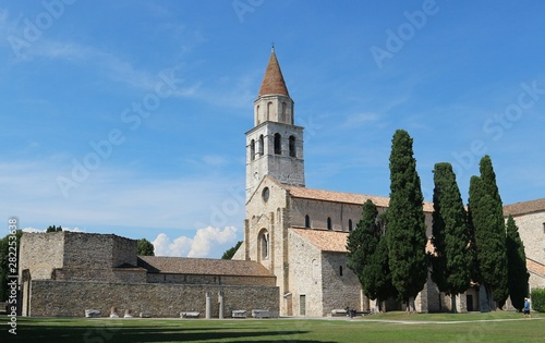 The ancient cathedral of Aquileia in Italy, one of the earliest church of Rome Canvas Print