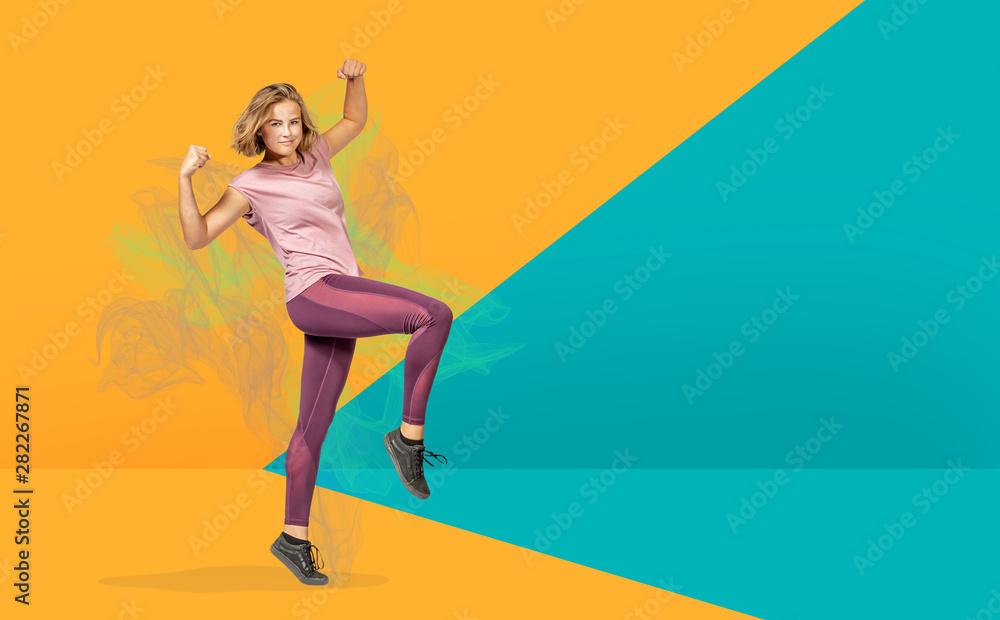 Fototapety, obrazy: the fitness exercise