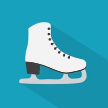 Ice Figure Skates Icon- Vector Illustration