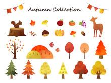 秋の水彩コレクション1