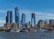 Cityscape of new skyscrapres in  Hudson Yard, New York.