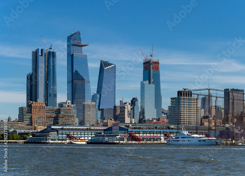 Cityscape of new skyscrapres in  Hudson Yard, New York. Canvas Print