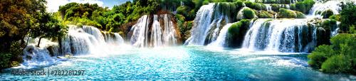 Foto auf Leinwand Wasserfalle Şelale Manzara Resimi VGC
