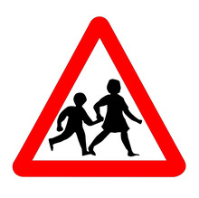 Children Traffic Sign Isolated