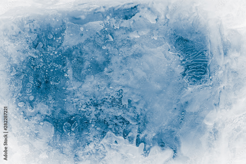 Fototapety, obrazy: Textured ice block surface background.