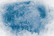 canvas print picture - Textured ice block surface background.