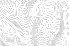 Topographic Map Linear Background. Abstract Vector Illustration.