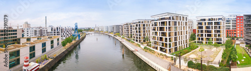 Obraz Harbor in Offenbach in summer - fototapety do salonu