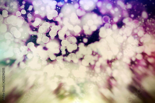 Poster Blanc Bokeh with multi colors, Festive lights bokeh background, Bokeh light vintage background, Abstract colorful defocused dot, Soft focus