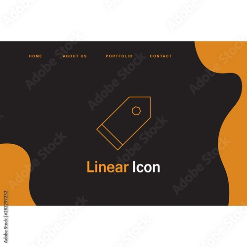 Fototapety, obrazy: tag icon creative design templat