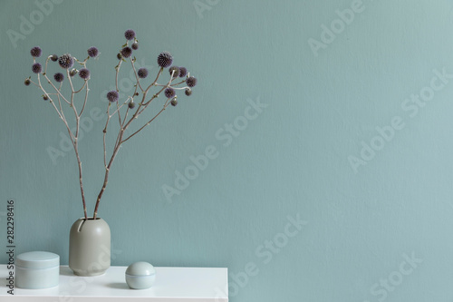 Obraz Elegant accessories in minimalistic interior - fototapety do salonu