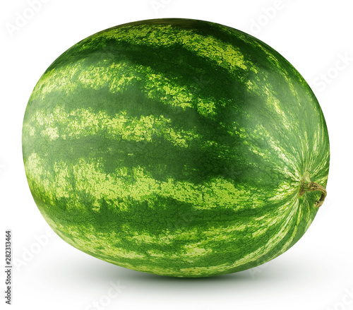 ripe watermelon isolated on a white background Wall mural