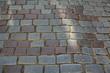 Stones on the pavement on the street, Tallinn, Estonia