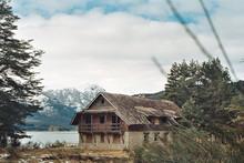 Cabaña Paz Lago Nieve Montañoso