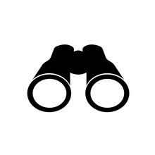 Illustration Of Binoculars Icon On White Background.