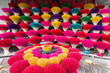 Bundle of traditional colorful Vietnamese incense sticks in a village workshop close to Hue city, Vietnam