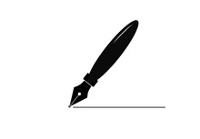 Fountain Pen Icon Isolated On ...
