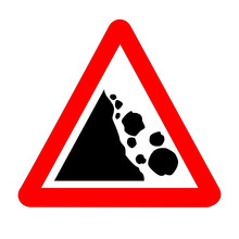 Danger Falling Rocks Traffic S...