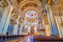 The Interior Of Salzburger Dom, Austria