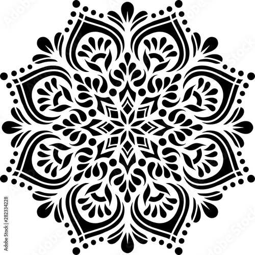 Photo  Mandala Pattern Stencil doodles sketch